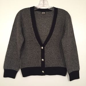J. Crew Cashmere Wool Cardigan Crystal Button
